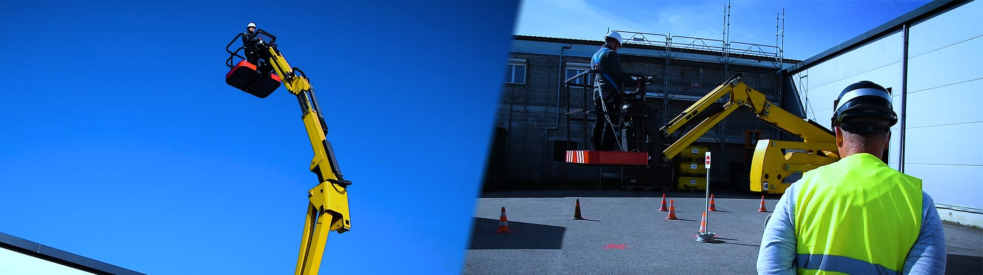 Obtenez votre CACES Nacelle • PEMP grâce à notre formation R482 directement dans votre centre de formation GRP Formations à proximité de Mulhouse