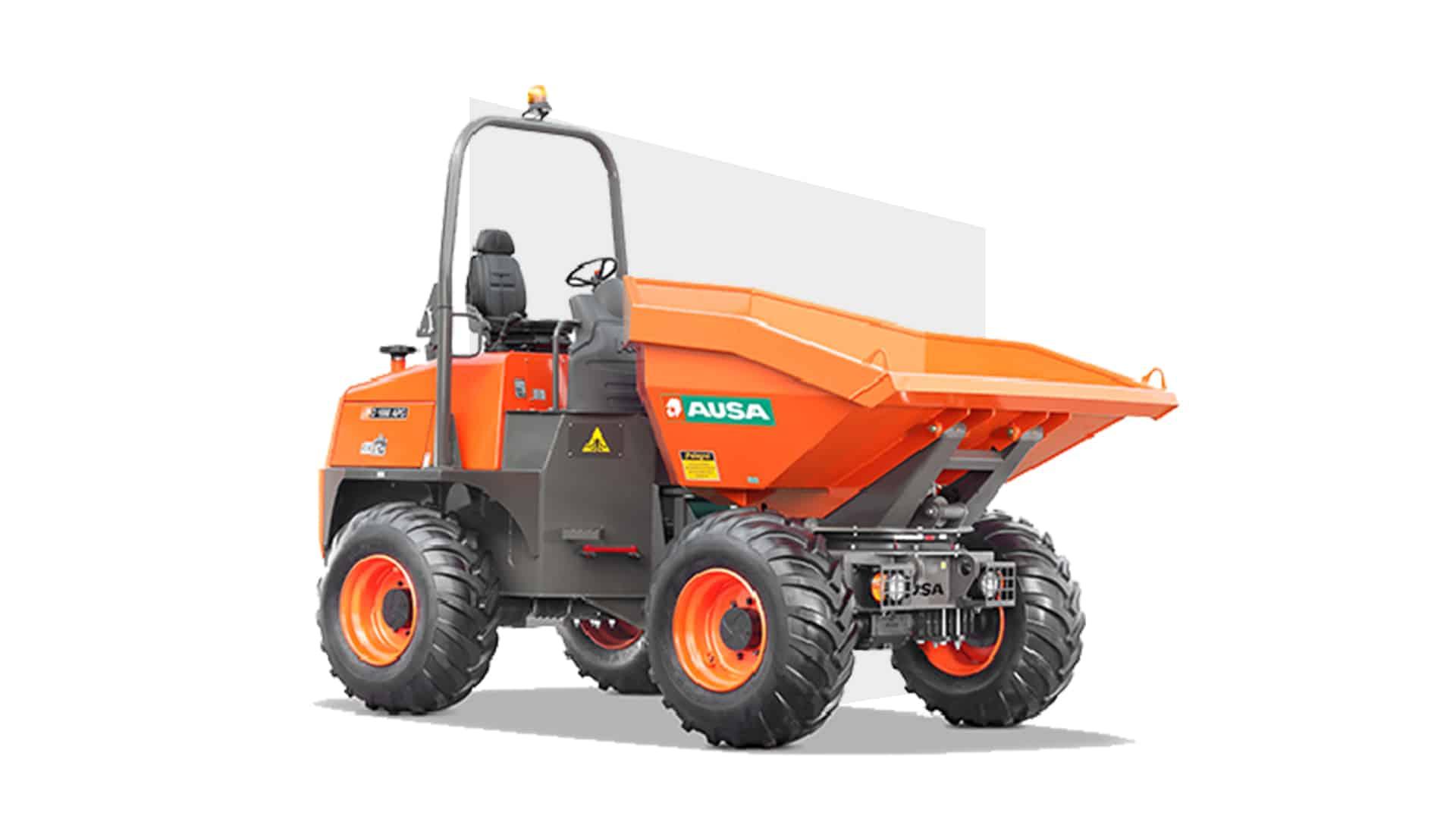 Illustration du Chargeur Mini Dumper Ausa 1,5 Tonnes disponible à la location dans votre agence proche de Mulhouse