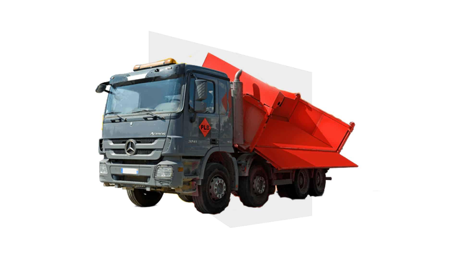 Illustration du camion benne disponible à la location proche de Mulhouse