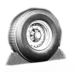 Illustration de calage de roue, accessoire utile pour les quais de chargement dans la prévention des risques d'accident liés au chargement / déchargement