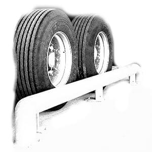 Illustration des guides roues, accessoire utile pour les quais de chargement dans la prévention des risques d'accident liés au chargement / déchargement