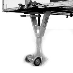 Illustration d'un tréteau ou d'une béquille, accessoire utile pour les quais de chargement dans la prévention des risques d'accident liés au chargement / déchargement